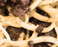 Spaghetti au boudin noir