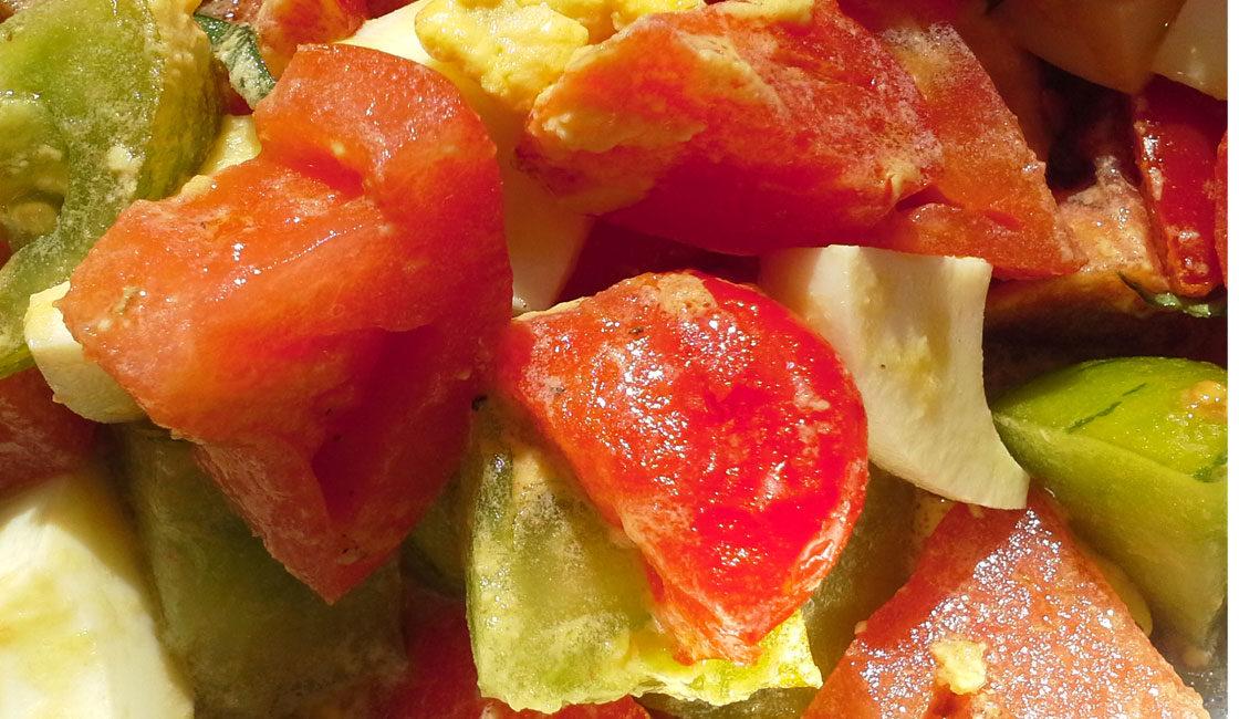 Salade tomates œufs