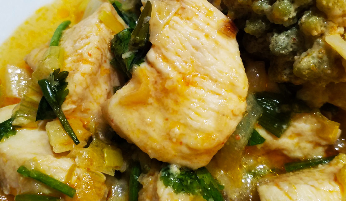 Curry de poulet aux fleurettes