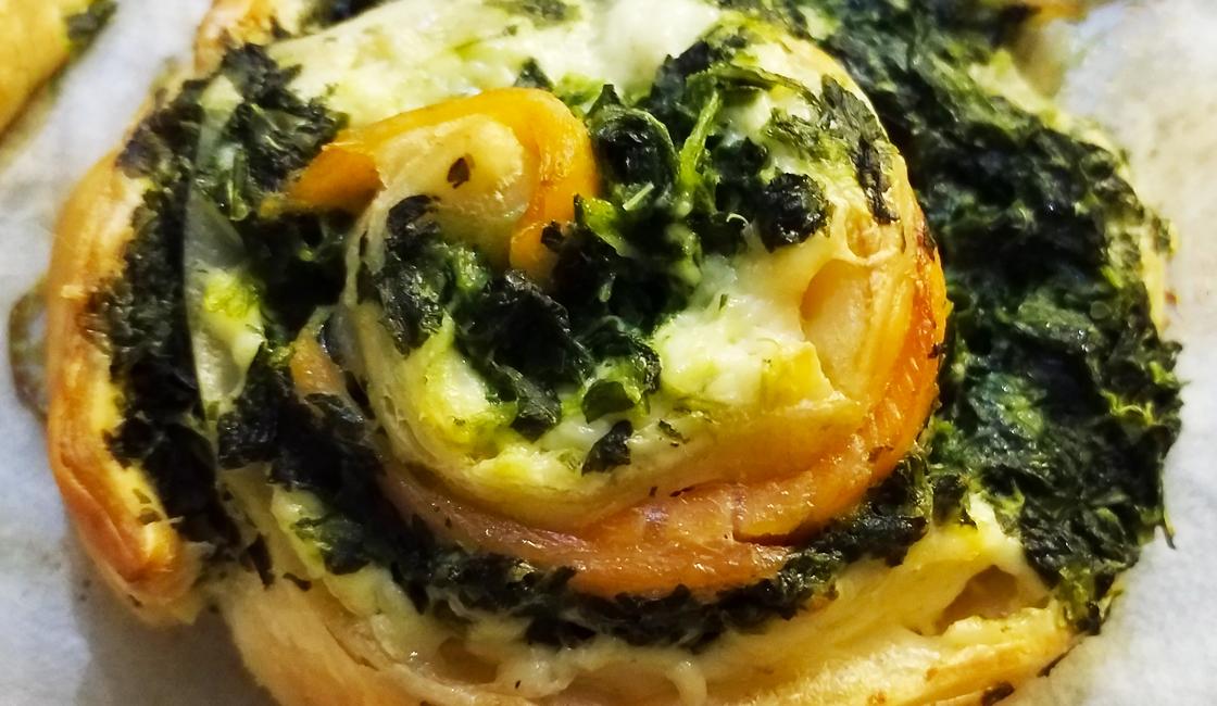Spirale de saumon aux épinards