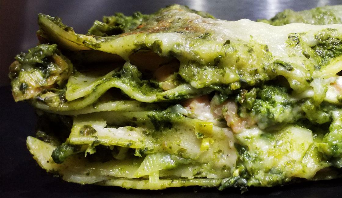 Lasagnes de saumon et verdures