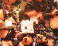 Tofu aux lentilles et carottes